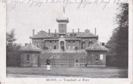 AK Mons - Vauxhall Et Parc - Feldpost - 2. Garde Fussart. Rgt. - 1918 (24587) - Mons