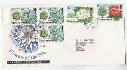 1980 MONTSERRAT COVER Fdc? FLOWERS 20c 1c 3x 3c To GB  Flower - Montserrat