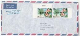 1978 Air Mail MONTSERRAT COVER Stamps OHMS Ovpt FLOWER Bauhinia Monandra  To GB Flowers - Montserrat