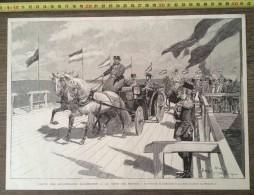 DOCUMENT ANNEES 1900 VISITE DES ALLEMANDS A LA COUR DE RUSSIE DEBARCADERE DU PETERHOF - Non Classés