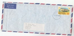 1980 Air Mail  ST CHRISTOPHER Nevis ANGUILLA COVER Stamps $5  BREWERY OFFICIAL OVPT  To GB Alcohol  Beer Drink - Beers