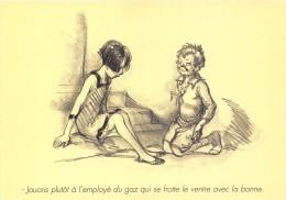 CPM Collection POULBOT - Menus Le Cornet 253° Diner 1927 - Jouons Plûtot à L´employé Du Gaz Qui Se Frotte Le Ventre - Poulbot, F.