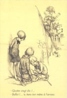 CPM Collection POULBOT - Menus Le Cornet 259° Diner 1928 -  Ballot!... Tu Tiens Ton Mettre à L´envers.- 2 Scans - Poulbot, F.