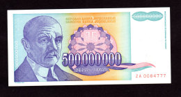 Replacement. Jugoslavia 500000000 Dinara ZA 1993. UNC!!!! - Jugoslavia