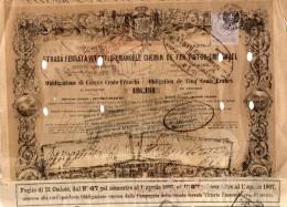 1897 STRADA FERRATA VITTORIO EMANUELE - Chemin De Fer & Tramway