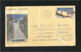 Australia Air Mail Postal Used Aerogramme Cover Australia To Pakistan  Airplane - Aerogramas