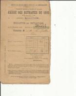 Caisse Des Retraites (P L M ) De 1892 (Materiel Et Traction) Du Titulaire Mr LE GUILLOU P -Bulletin Situation 31-12-1904 - Decrees & Laws