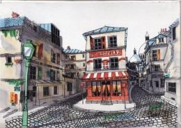 """Petit Tableau - Cafe """" Le Consulat"""", La Bonne Franquette   ( Montmartre) - Otros"""