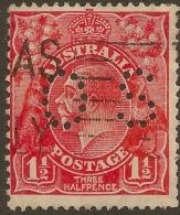 AUSTRALIA 1926 1.5 KGV OS Perfin SG O100a U #VO134