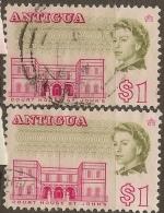 ANTIGUA 1966 $1 Shades SG 193/a U #VN112 - 1960-1981 Interne Autonomie