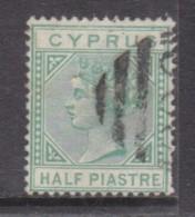 Cyprus, Queen Victoria, 1882, 1/2 Piastre, Emerald-green. Wmk Crown CA,  Used - Cyprus (...-1960)