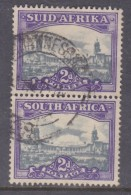South Africa: 1950, 2d, Slate-blue & Purple, Vertical Pair, C.d.s. Used JOHANNESBURG - South Africa (...-1961)