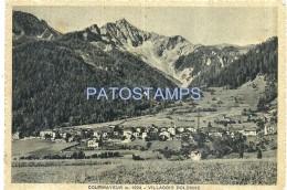 55286 ITALY COURMAYEUR AOSTA VILLAGE DOLONNE VIEW GENERAL CIRCULATED TO ROMA POSTAL POSTCARD - Italia