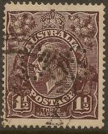 AUSTRALIA 1918 1.5d KGV OS Perfin SG O64 U #VO114