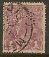 AUSTRALIA 1918 1d KGV OS Perfin SG O67 U* #VO117