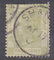 Hong Kong 1882-96, 30 C, Used In Shanghai, China - Hong Kong (...-1997)