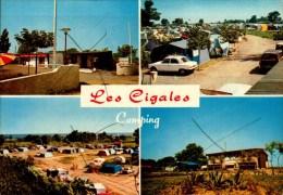 34-VIAS SUE MER..CAMPING LES CIGALES..4 VUES...CPM - Autres Communes