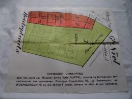 Gte NIEL Sectie A : Pastorijstraat / Heideplaats - Schaal 1/100e ( Notaris Van Nuffel Akte Kaart : Zie Foto´s ) ! - Other