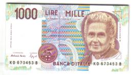 1000 LIRE MARIA MONTESSORI SERIE D 1994 DA MAZZETTA LOTTO 1045 - [ 2] 1946-… : République