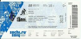 Sochi 2014 Olympic Winter Games Entrance Ticket. Biatlon - Tickets & Toegangskaarten