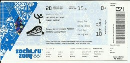 Sochi 2014 Olympic Winter Games Entrance Ticket. Figure Skating - Tickets & Toegangskaarten