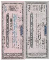 Il Banco Di Napoli Vaglia Cambiario 1955 + 1957 LOTTO 1067 - [ 2] 1946-… : Républic