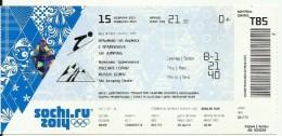 Sochi 2014 Olympic Winter Games Entrance Ticket. Ski Jamping - Match Tickets