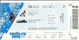 Sochi 2014 Olympic Winter Games Entrance Ticket. Ice Hockey - Match Tickets