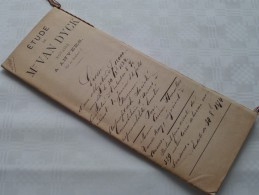 Etude De Mtre VAN DIJCK ( Dyck) Notaire à ANVERS : Akte - Anno 1874 ( Voir Photo Pour Détail ) ! - Non Classés
