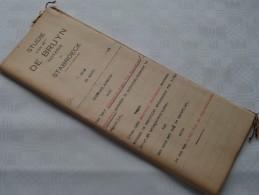 STUDIE Van Mter DE BRUYN Notaris Te STABROECK : Akte - Anno 1923 ( Voir Photo Pour Détail ) ! - Non Classés