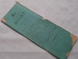 STUDIE / ETUDE Van Mter MEERT Notaris Notaire Te ANVERS : Akte - Anno 1880 ( Voir Photo Pour Détail ) ! - Non Classés