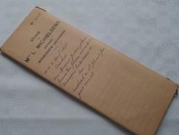 STUDIE Van Mter L. MICHIELSENS Notaris Te WIJNEGEM ( Wyneghem) Antwerpen : Akte - Anno 1938 ( Voir Photo Pour Détail ) ! - Non Classés