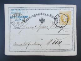 GANZSACHE Linz - Wien  1872 Modemagazin Erzherzogin Gisela /// D*20862 - 1850-1918 Imperium
