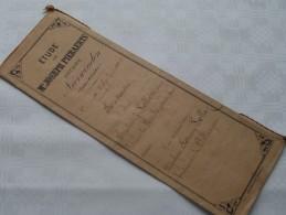 ETUDE De Me Joseph PIERAERTS Notaire A NEERWINDEN ( Canton Landen ) : Akte - Anno 1896 ( Voir Photo Pour Détail ) ! - Non Classés
