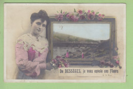 BESSEGES :  De Bessèges Je Vous Envoie Ces Fleurs. 2 Scans. Edition E A - Bessèges