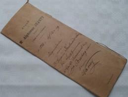 ETUDE De Me Alphonse JEANTY Notaire A IZEL ( Luxembourg ) : Akte - Anno 1899 ( Voir Photo Pour Détail ) ! - Non Classés