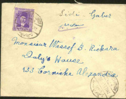 Egypt 1944 Used Cover Postmark  Sidi Gaber - Luqsor Station- Condition As In Scan - Egypt