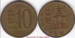 Corea Sel Sud 10 Won 1970 KM#6 - Used - Corea Del Sud