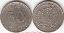 Corea Del Sud 50 Won 1983 KM#34 - Used - Corea Del Sud