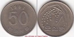 Corea Del Sud 50 Won 1991 KM#34 - Used - Corea Del Sud