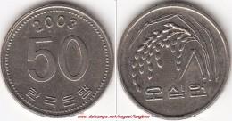 Corea Del Sud 50 Won 2003 KM#34 - Used - Corea Del Sud
