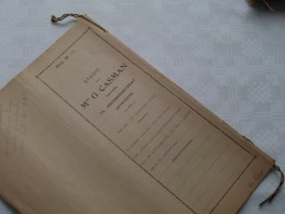 ETUDE De Mer G. CASMAN Notaris ANTWERPEN : Akte - Anno 1931 ( Voir Photo Pour Détail ) ! - Non Classés