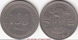 Corea Del Sud 100 Won 1980 (Admiral Yi Soon-Shin) KM#9 - Used - Corea Del Sud
