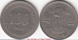 Corea Del Sud 100 Won 1980 (Admiral Yi Soon-Shin) KM#9 - Used - Korea, South