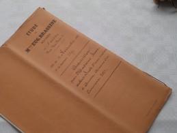 ETUDE De Mtre Eug. BRASSINE Notaire ANVERS : Akte - Anno 1887 ( Voir Photo Pour Détail ) ! - Non Classés