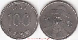 Corea Del Sud 100 Won 1986 (large Bust) KM#35.2 - Used - Corea Del Sud