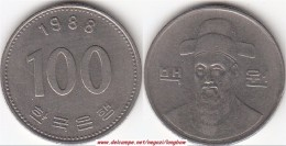 Corea Del Sud 100 Won 1988 (large Bust) KM#35.2 - Used - Corea Del Sud