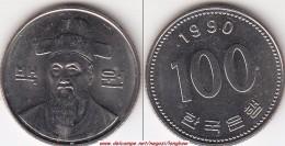 Corea Del Sud 100 Won 1990 (large Bust) KM#35.2 - Used - Corea Del Sud