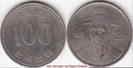 Corea Del Sud 100 Won 1991 (large Bust) KM#35.2 - Used - Corea Del Sud