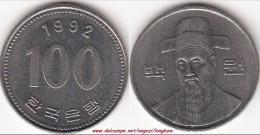 Corea Del Sud 100 Won 1992 (large Bust) KM#35.2 - Used - Corea Del Sud